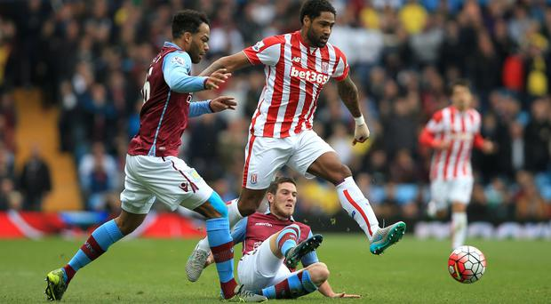 Glen Johnson helped Stoke to their second successive league win