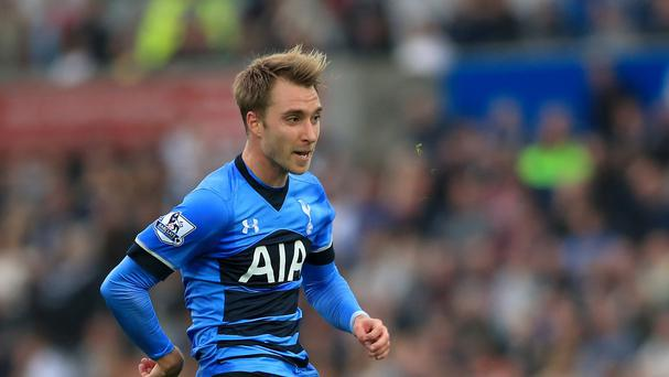 The free-kick brilliance of Christian Eriksen, pictured, was hailed by Tottenham manager Mauricio Pochettino