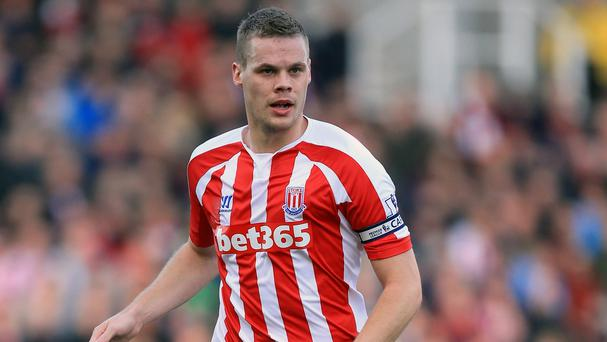 Ryan Shawcross returned to action with Stoke's under-21s on Wednesday
