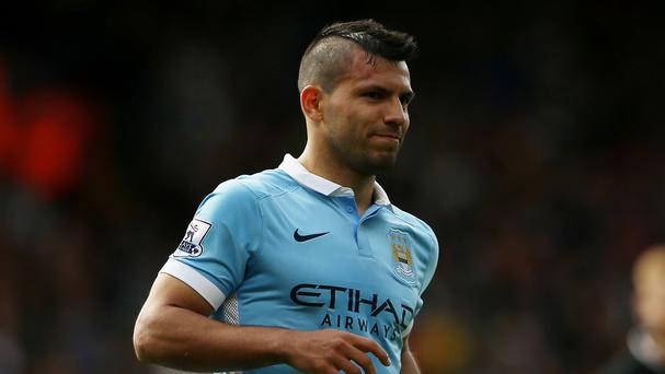 Sergio Aguero suffered his injury while on international duty
