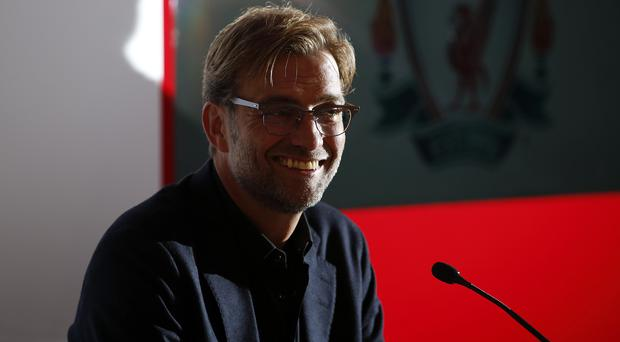 New Liverpool manager Jurgen Klopp greets the media at Anfield