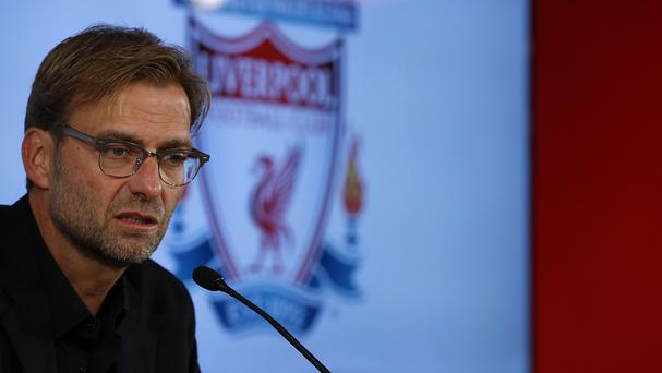 Jurgen Klopp has taken his first Liverpool training session