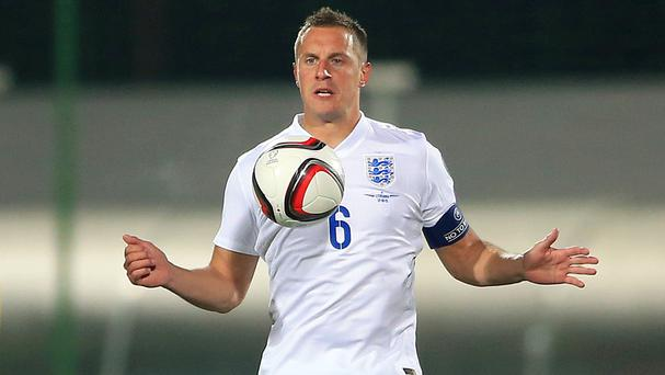 Phil Jagielka captained England to victory in Lithuania