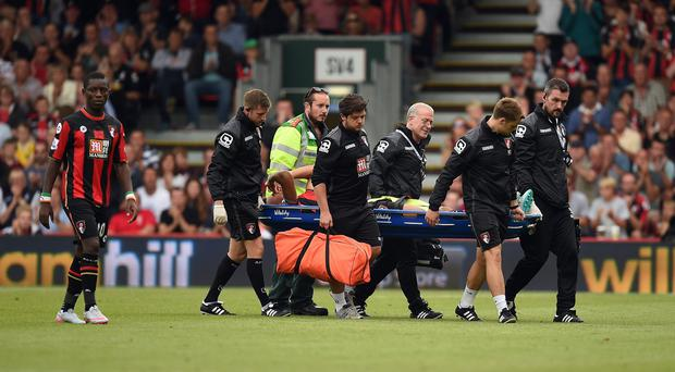 Tyrone Mings is one of several players in the Bournemouth treatment room