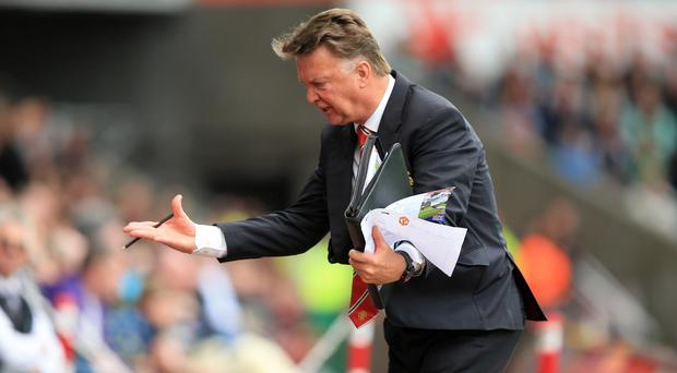 Manchester United manager Louis Van Gaal will hope to be in a better mood after the Everton game