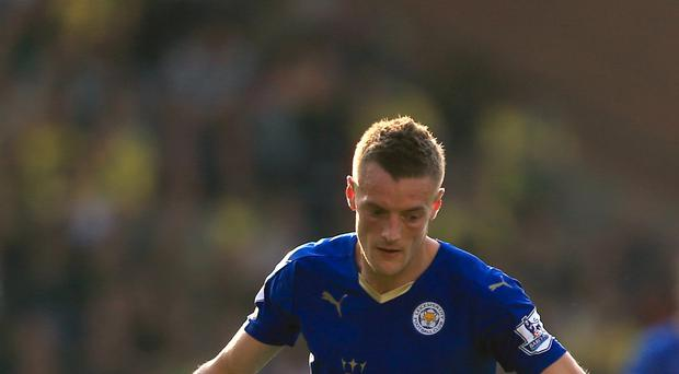 Leicester's Jamie Vardy has scored seven goals for the Foxes this season.