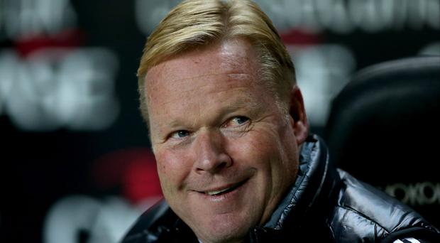 Ronald Koeman, pictured, rates striker Graziano Pelle amongst the best in the Premier League