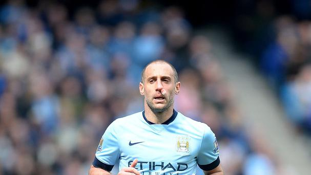 Manchester City's Pablo Zabaleta is looking forward to another derby against Manchester United