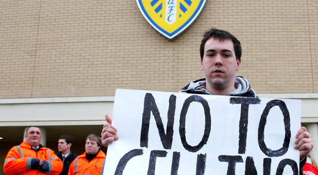 'Marching on together,' the Leeds fans sang as usual on Wednesday but they need more than their passion to save them from the capricious regime of Massimo Cellino who may be disqualified from running the club until June of next year after being found guilty of tax evasion in Italy