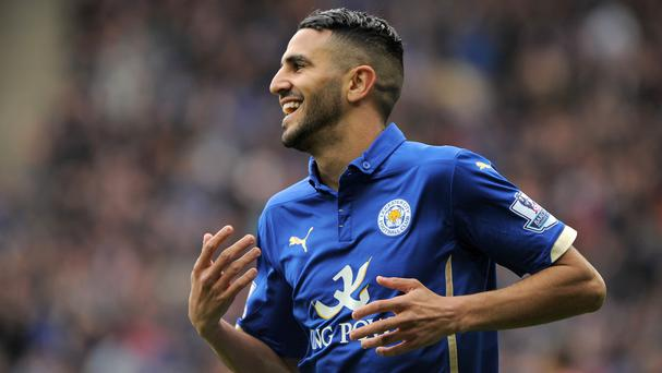 Riyad Mahrez, pictured, set up Jamie Vardy for Leicester's winning goal on Saturday