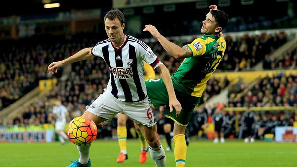 Jonny Evans, left, and his West Brom team-mates have kept six Premier League clean sheets this season