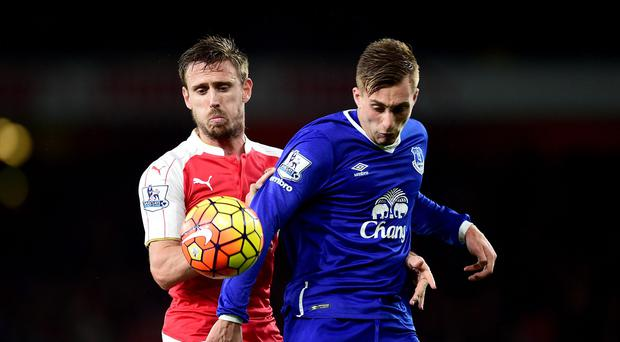 Everton's Gerard Deulofeu (right) was booed after diving against Arsenal.