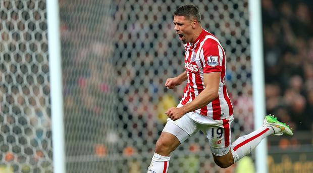 Jonathan Walters put Stoke ahead against Chelsea on Tuesday with a superb strike