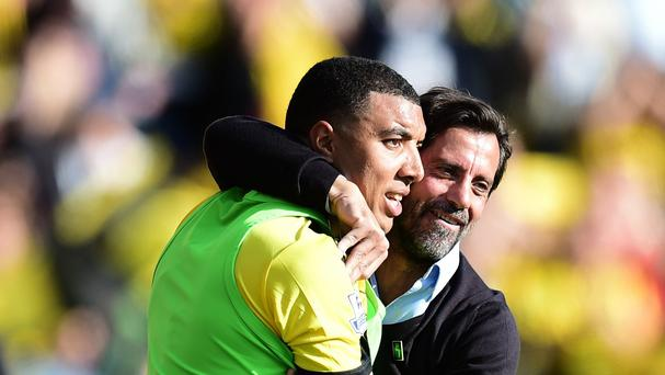 Troy Deeney, left, has won the admiration of his manager Quique Sanchez Flores