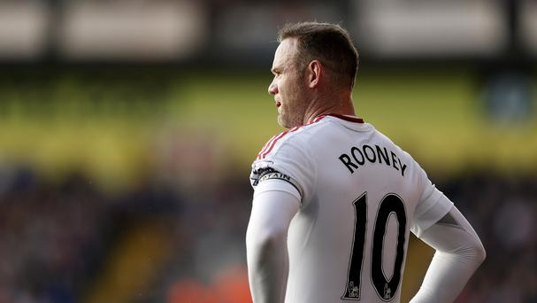 Manchester United captain Wayne Rooney was again disappointed