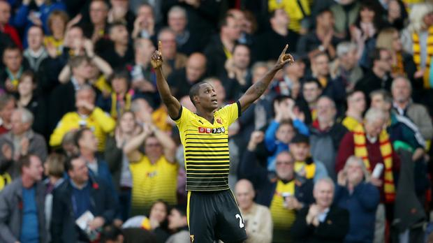 Odion Ighalo inspired Watford to a 2-0 win at Vicarage Road