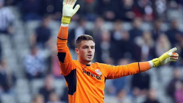Stoke keeper Jack Butland kept Newcastle at bay
