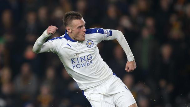 Leicester's Jamie Vardy has scored in eight successive league games