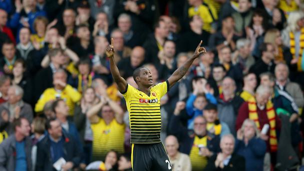 Odion Ighalo's double sank in-form West Ham at Vicarage Road