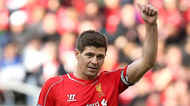 Jurgen Klopp has spoken to Steven Gerrard, pictured, about him training back at Liverpool