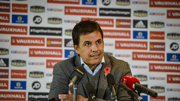 Wales manager Chris Coleman, pictured, has hit back at Arsenal counterpart Arsene Wenger