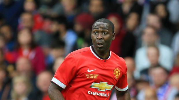 Andrew Cole during a charity match for Manchester United in 2015