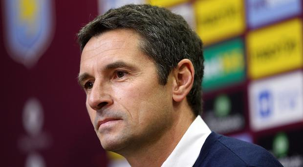 New Aston Villa manager Remi Garde was unveiled to the press at Villa Park on Thursday