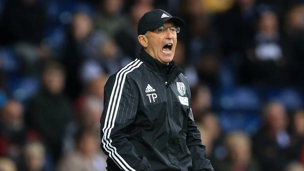 West Brom boss Tony Pulis, pictured, was angry at Anthony Taylor's performance in the defeat to Leicester