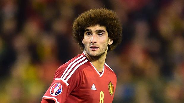 Manchester United's Marouane Fellaini was injured in training on Friday