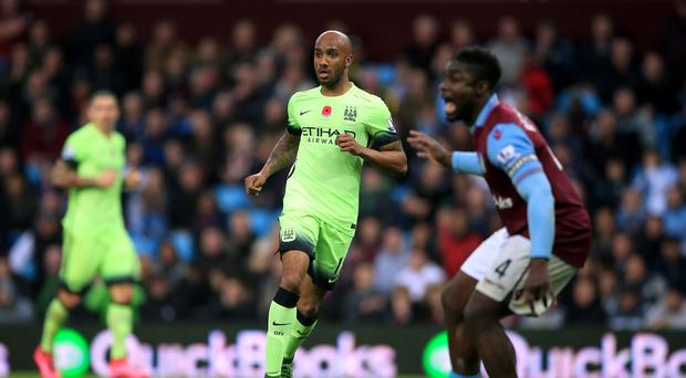 Manchester City's Fabian Delph returned to Aston Villa for the first time since his summer switch