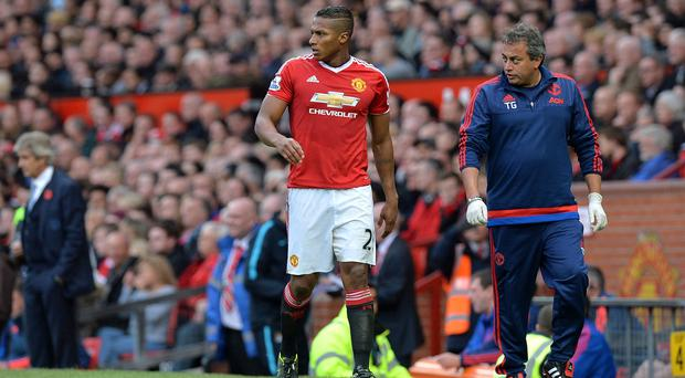 Antonio Valencia picked up a foot injury in October's Manchester derby