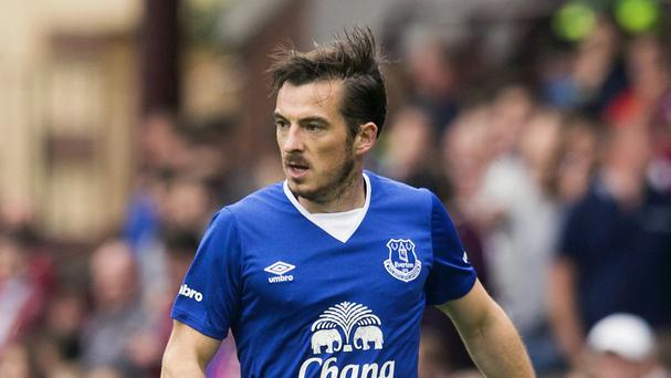 Leighton Baines will step up his recovery from an ankle injury in a behind-closed-doors friendly
