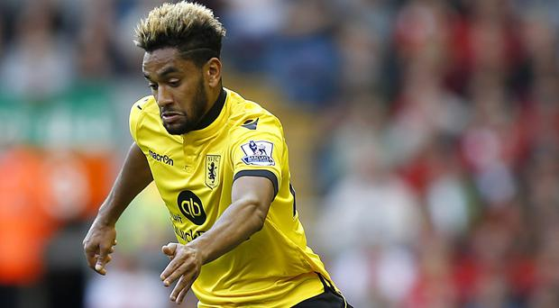 Aston Villa's Jordan Amavi joined the club from Nice in the summer