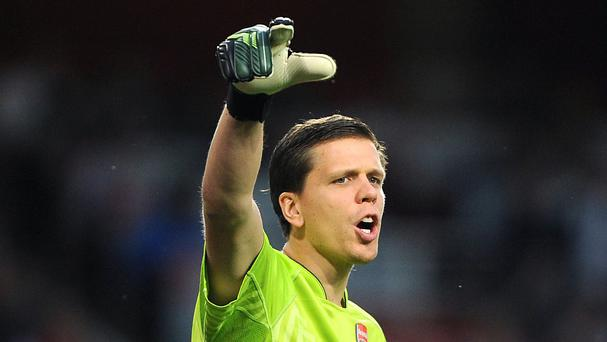Arsenal goalkeeper Wojciech Szczesny is on loan at Roma for the 2015/16 season.