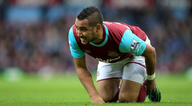 Dimitri Payet was injured against Everton on November 7
