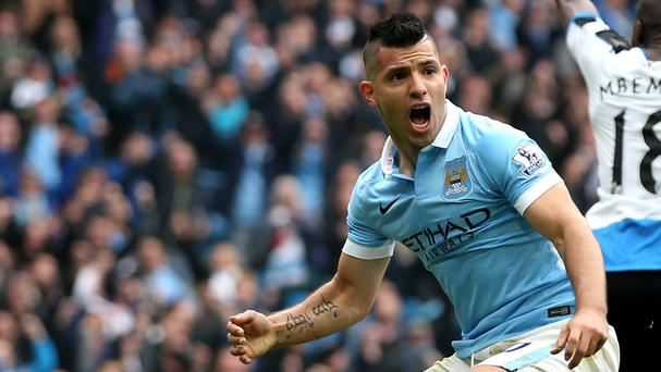 Sergio Aguero is hoping to return for Manchester City this weekend