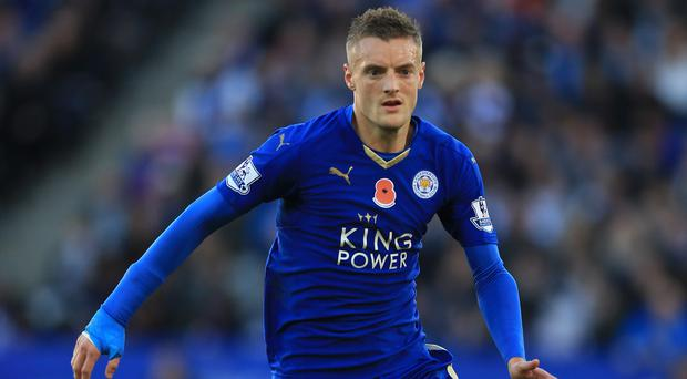 Jamie Vardy has scored in nine straight Barclays Premier League games for the Foxes