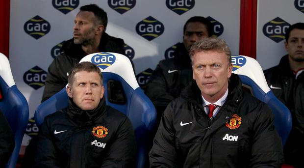 Steve Round, left, worked with David Moyes at Manchester United and Everton