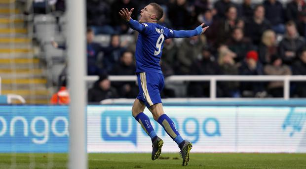 Jamie Vardy has now scored in 10 consecutive Premier League matches