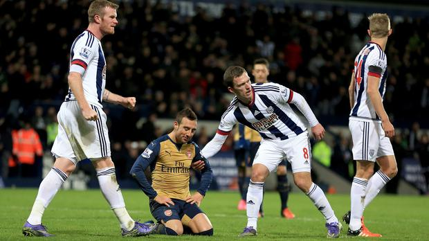 Santi Cazorla fluffed his lines as Arsenal slipped up at the Hawthorns