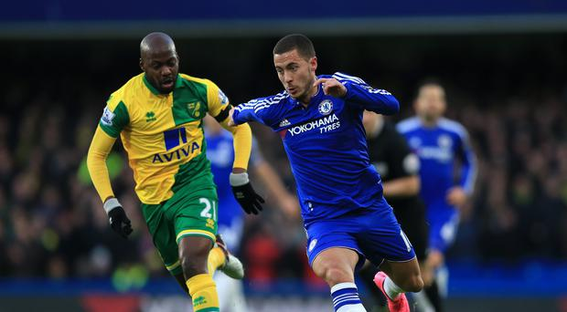 Chelsea's Eden Hazard showed glimpses of his best form against Norwich