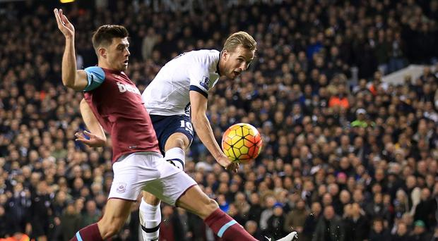 Harry Kane scored twice as Tottenham thrashed West Ham 4-1 on Sunday