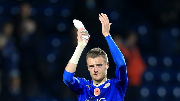 Leicester's Jamie Vardy is the Barclays Premier League's 13-goal top scorer.