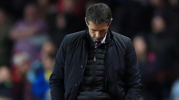 Remi Garde is yet to pick up a victory as Aston Villa boss