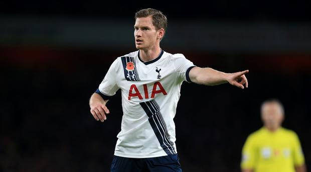 Jan Vertonghen will be ready to go again when Tottenham face Chelsea