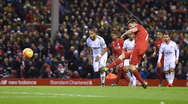 James Milner scored in Liverpool's win