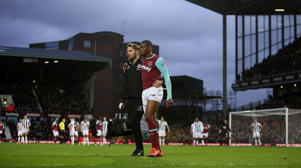 Diafra Sakho suffered a thigh injury against West Brom on Sunday