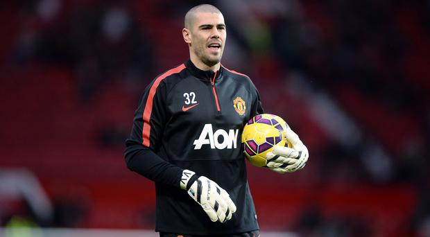 Victor Valdes has only played twice for Manchester United since joining on a free transfer