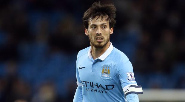 David Silva, pictured, started alongside Kevin De Bruyne and Raheem Sterling at Stoke