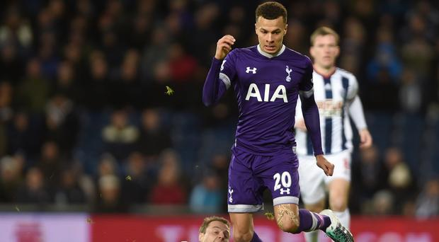 Dele Alli volleyed in after 15 minutes for Tottenham